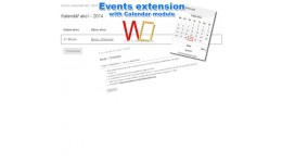 Event extension with Calendar module