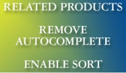 Related products - remove autocomplete + enable ..