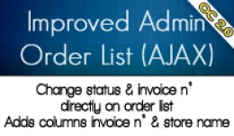 OC2 - Improved Admin Order List (AJAX)