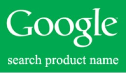Google search product name