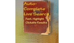 AutoComplete Live Search with AJAX and Highlights