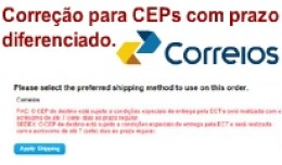 [vQmod] Correção Correios para CEP com prazos ..