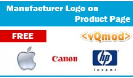 Manufacturer Logo on product page [VQMOD]