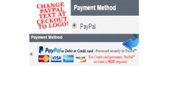 Change Paypal Text at Checkout to Credit Card Lo..