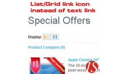 List/Grid link icon instead of text link 1.5.x.x..