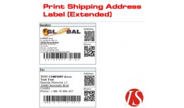 Print Shipping Address Label (Extended) for v1.5..