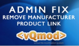 Admin Fix - Remove Manufacturer from Product