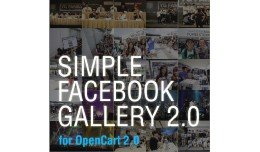 Simple Facebook Gallery 2 for Opencart 2.0
