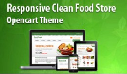Responsive Clean New Food Store Opencart Template
