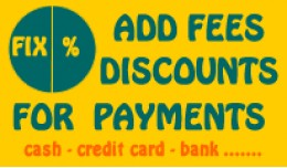 Discount or Fee for payments