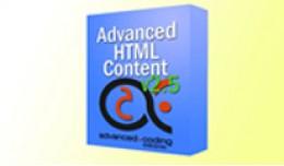 Advanced HTML Content v2.5