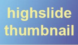 Highslide thumbnail