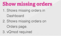 Missing and Abandoned Orders