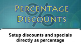 Percentage Discounts for OC1.5.x & OC 2.0.x