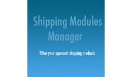 Shipping Modules Manager (Restrict/control shipp..