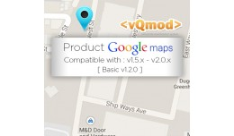 Product Google Map - Opencart 1.5.x - 2.0.x Vqmod