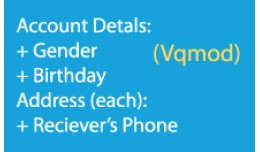 Add user info(vqmod) - add gender, birthday and ..