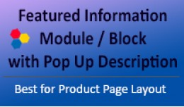 Featured Information Module / Block with Pop up ..