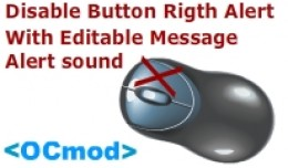 Disable Button Rigth Alert - With Editable Messa..