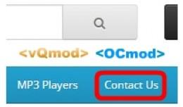 [vQmod/OCmod]Link Contact End Menu Header