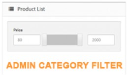 Products By Category In Admin & Product Filter