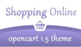 Shopping Online Lavender Opencart 1.5 Theme