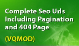 Complete seo urls including pagination and 404 p..