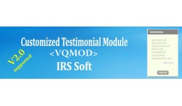 Customized Testimonial Module (VQMOD)