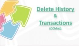 Delete History & Transactions