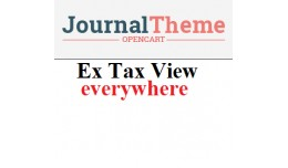 Ex tax view everywhere - Journal Theme