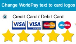 Change WorldPay text on checkout to credit card ..