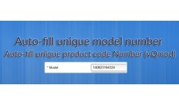 Auto-fill unique model number for new product (v..