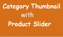 NDsoft Category thumbnail with product slider
