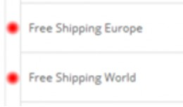 Free Shipping Europe & World