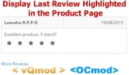 Display Last Review Highlighted in the Product P..