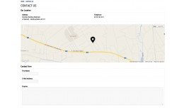 Google Map on contact page
