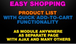 Easy Shopping - Product list with quick add-to-c..