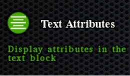 Text Attributes [NEW]