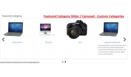 Featured Category Slider / Carousel  Opencart  2.x