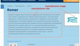 Keywords-description-image-info for Manufacturers
