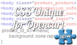 CSS Unique (body class) for Opencart & Multi..