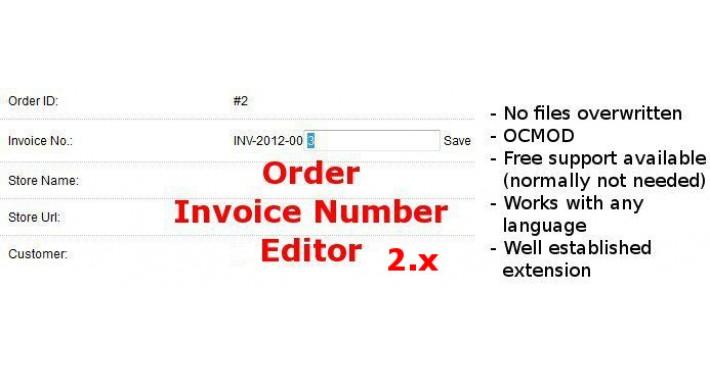 Edit Invoice Number 2.x