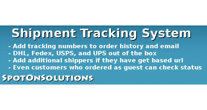 1.5.0.X Shipment Tracking System