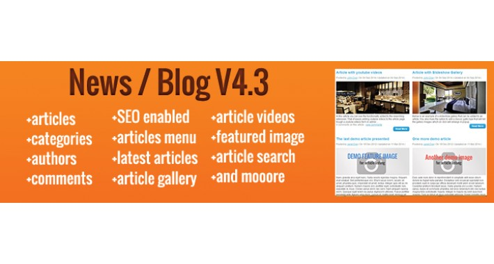 Blog / News V4.5 - extension for opencart