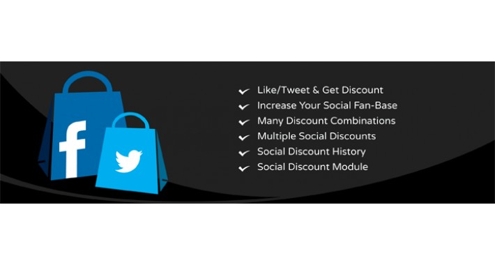 Social Discount - Like/Follow/Tweet & Get Discount