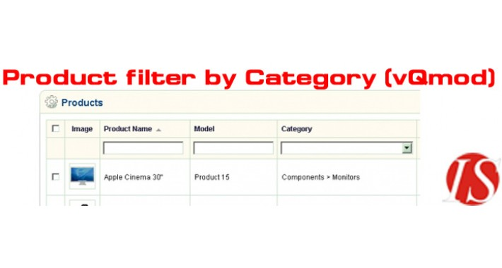 Product filter by category in admin section 1.5.x.x (vQmod)