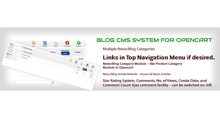 BLOG SYSTEM OPENCART
