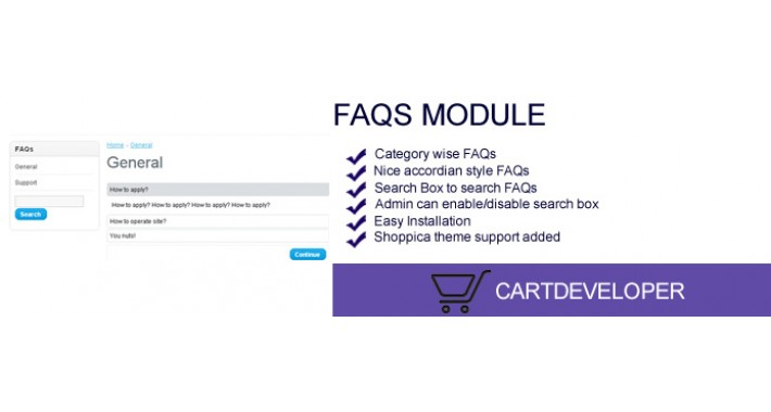 FAQs Module for OpenCart