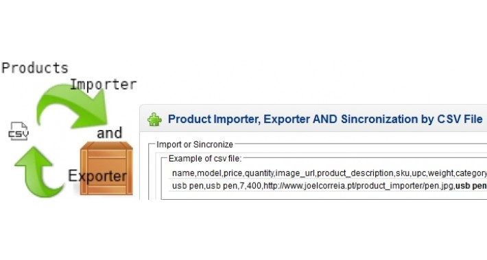 Product Importer, Exporter AND Sincronization by CSV File