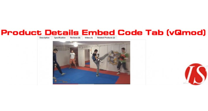Product Details Embed Code Tab v1.5.x & v2.x (vQmod)